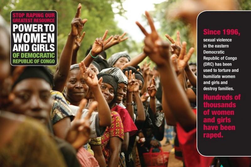 剛果婦女努力對抗暴力,也需要國際社會的支持。(剛果反性侵運動海報)