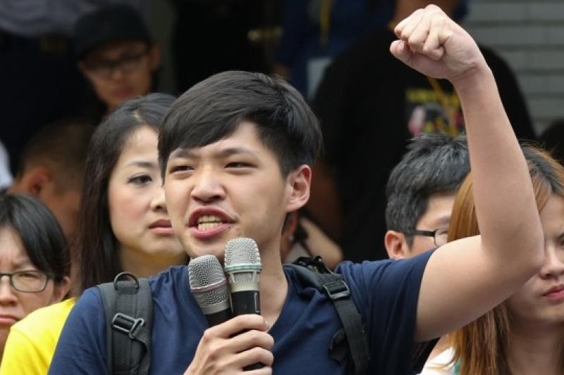 318學運領袖陳為廷投入苗栗立委補選,目前民調看好。(余志偉攝)