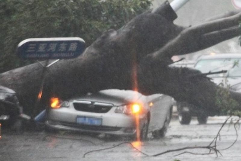 海燕颱風11日上午進入中國廣西,給廣西多地帶來強降雨和強風(中新網)