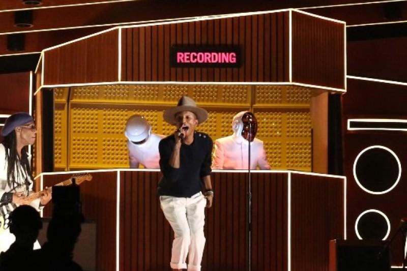 法國電音雙人組合傻瓜龐克(Daft Punk)是2014年葛萊美獎最大贏家(美聯社)