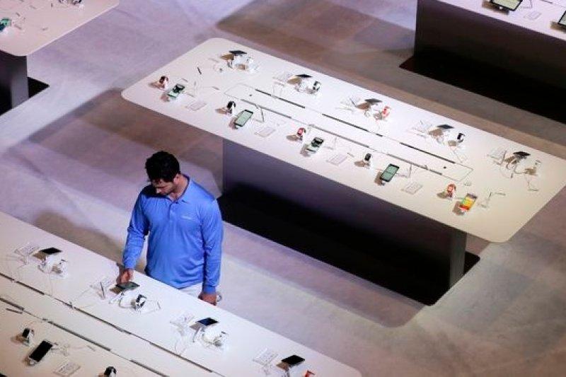 三星在美國消費電子展(CES)的展示攤位 (美聯社)