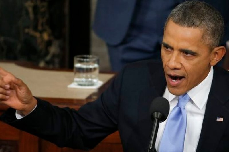 美國總統歐巴馬28日發表年度國情咨文,揚言不惜以行政命令方式繞過國會,強推施政。(美聯社)