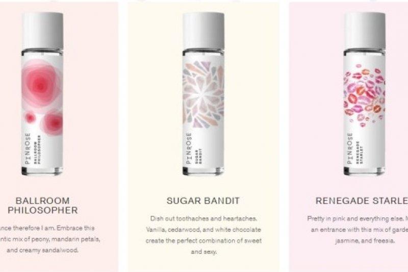 新創香水公司Pinrose以線上測驗預測使用者適合的香氣(取自網路)