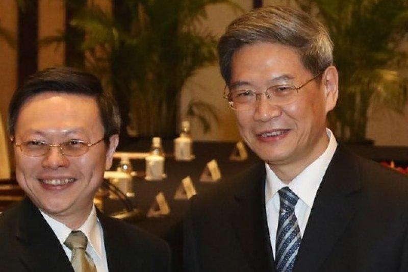 王張會談後達成共識,雙方將建立直接聯繫平台。(余志偉攝)