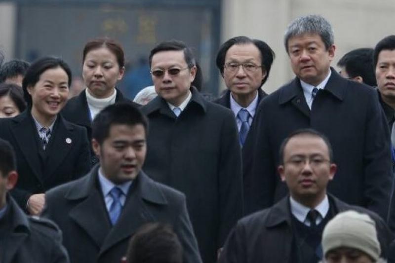 王郁琦在南京中山陵謁陵時提及「中華民國」,中國國台辦低調回應。(余志偉攝)