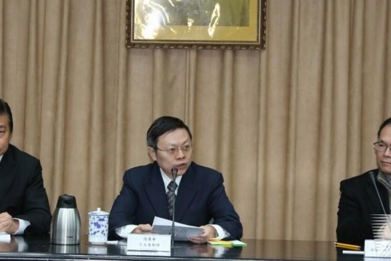 陸委會主委王郁琦在返台記者會中表示,能在中山陵前使用國號,是一大突破。(余志偉攝)