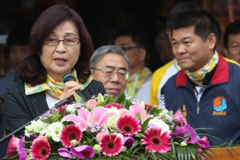 民進黨台北市徵詢小組將於26日向黨中央提出台北市長建議名單,雲林縣長蘇治芬搶在最後關頭表態支持律師顧立雄。(吳逸驊攝)