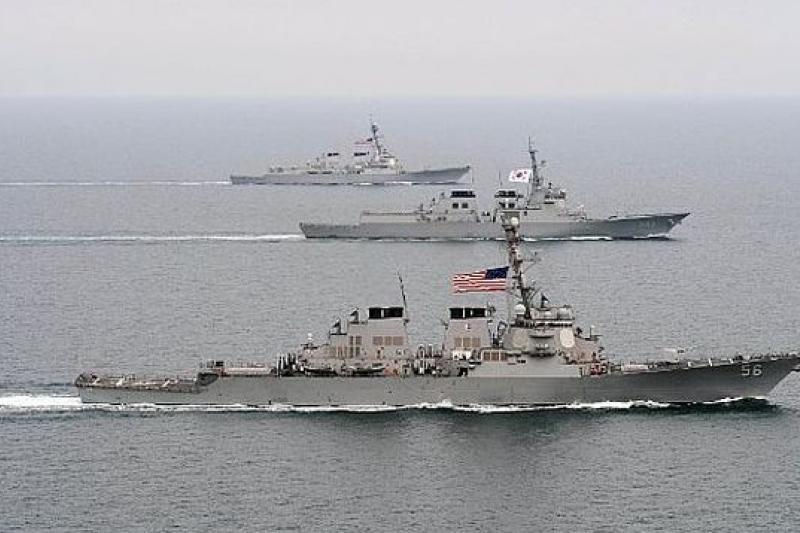 美韓聯合軍演首日,便發生北韓艦艇越界事件(取自網路)