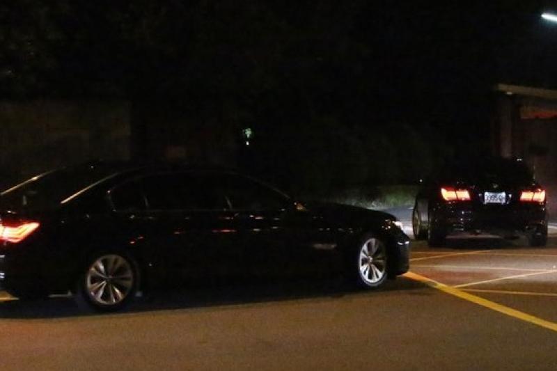 江宜樺報告總統馬英九有意撤換內政部長李鴻源,在今晚9點進入馬英九官邸做最後確認。(余志偉攝)