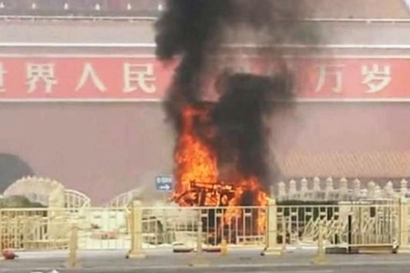 發生在去年10月28日的天安門爆炸案,造成5人死亡。(取自網路)