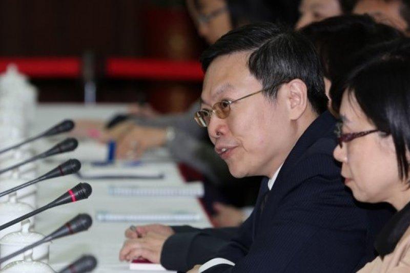 馬總統盛讚登陸的陸委會主委王郁琦傳遞了和平訊息(余志偉攝)