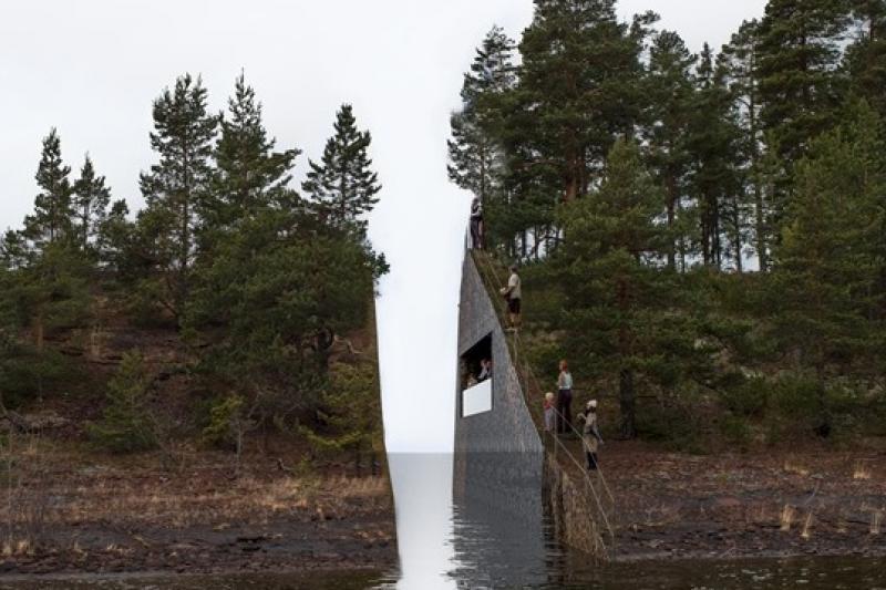瑞典藝術家喬納斯達貝格為挪威于特島大屠殺設計的紀念作品(KORO官方網站)