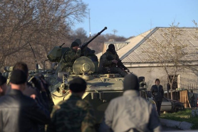 克里米亞半島的俄羅斯駐軍,22日攻擊貝爾貝克的烏克蘭空軍基地。(美聯社)