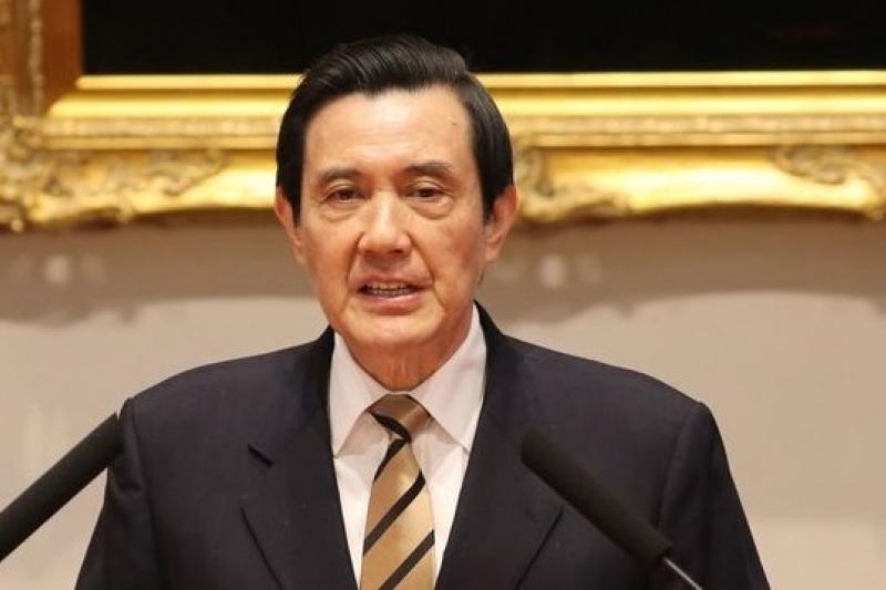 馬英九23日舉行記者會,回應佔領立法院學生的訴求。(吳逸驊攝)