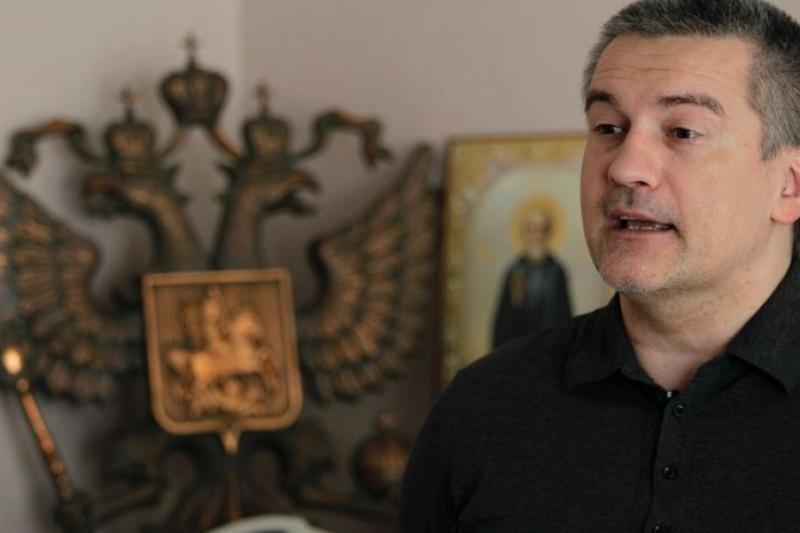 克里米亞總理阿克塞昂諾夫是黑幫體系培養出來的政治人物。(美聯社)
