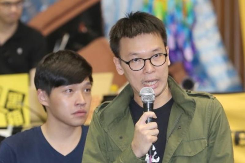 撤出議場重新出發,林飛帆、陳為廷表示,將在9日舉行反省凝聚會議。(吳逸驊攝)