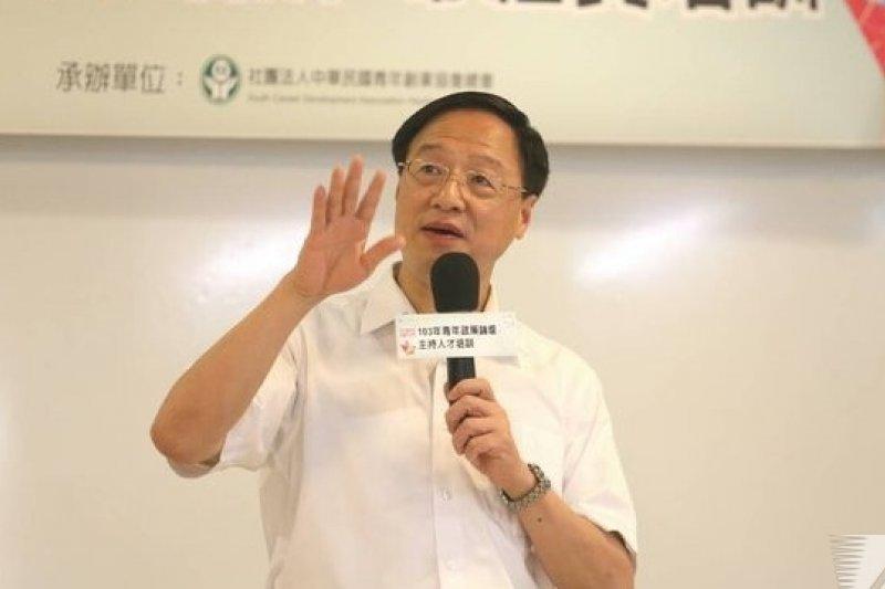 行政院長江宜樺20日表示,竭誠歡迎民進黨主席蘇貞昌面對面談核四如何解決。(吳逸驊攝)