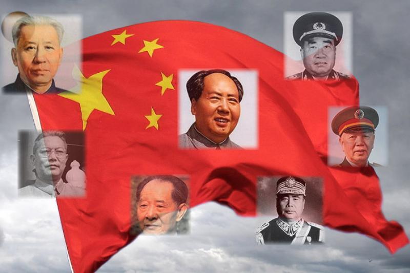 中國開國元勳的第二代或第三代中多人從軍,並已晉陞為將軍。(圖片來源:維基百科、東方網,《風傳媒》製圖)