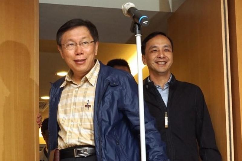 北北基12年國教方案,一直未得到教育部認可,但台北新北兩大直轄市長柯文哲、朱立倫已熱線決定不更動。(資料照片,蘇仲泓攝)