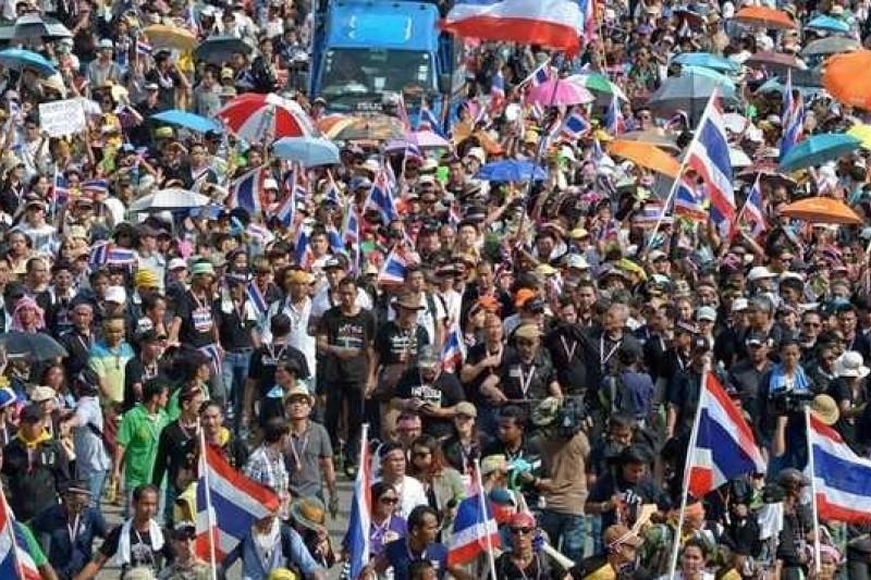 聲勢浩大:泰國反對派在曼谷的遊行。