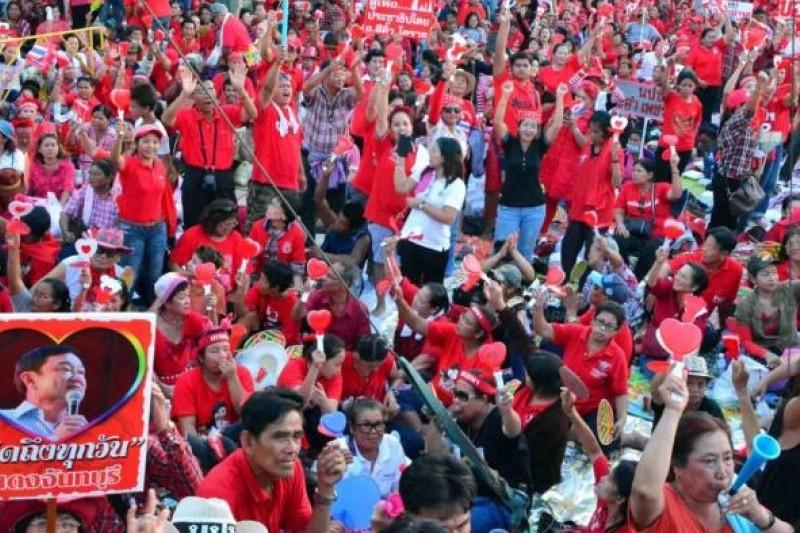 紅衫軍集會。