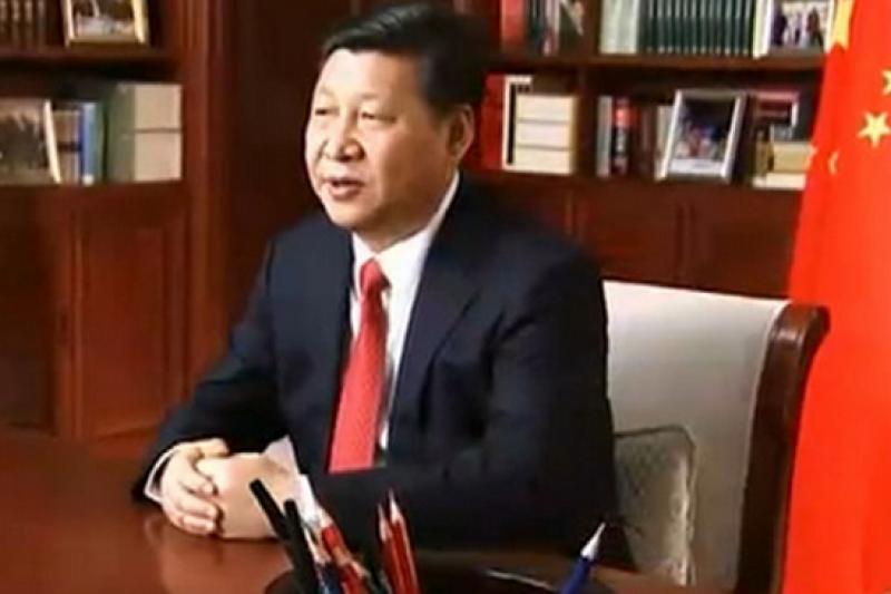 中國國家主席習近平2015年新年賀詞是為人民按讚,但是,若不能還權於民,中國就不可能進入政治文明新時代。(CCTV新聞聯播畫面)