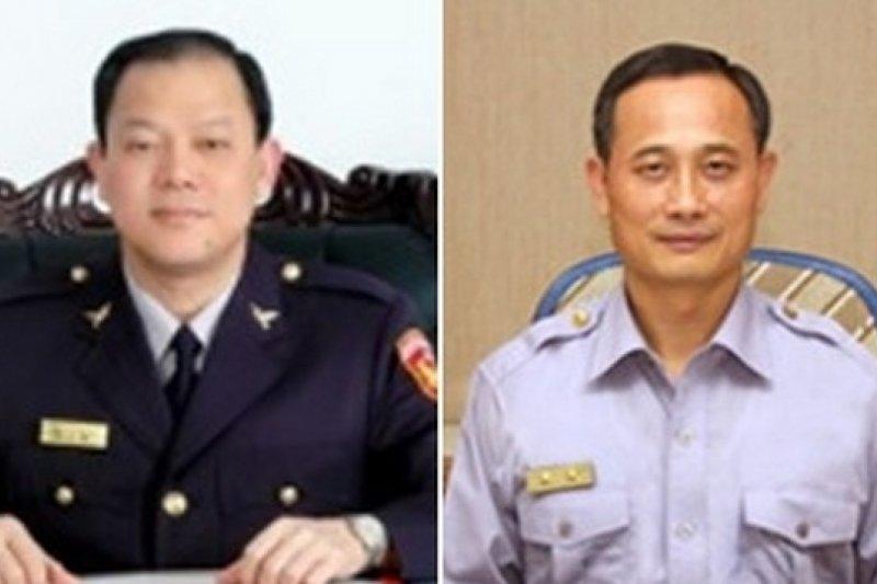警界人事大搬風,蔡義猛(左)將接任台中市警察局長,陳家欽(右)則將接任高雄市警察局長。(取自彰化縣警察局網站、警政署網站)