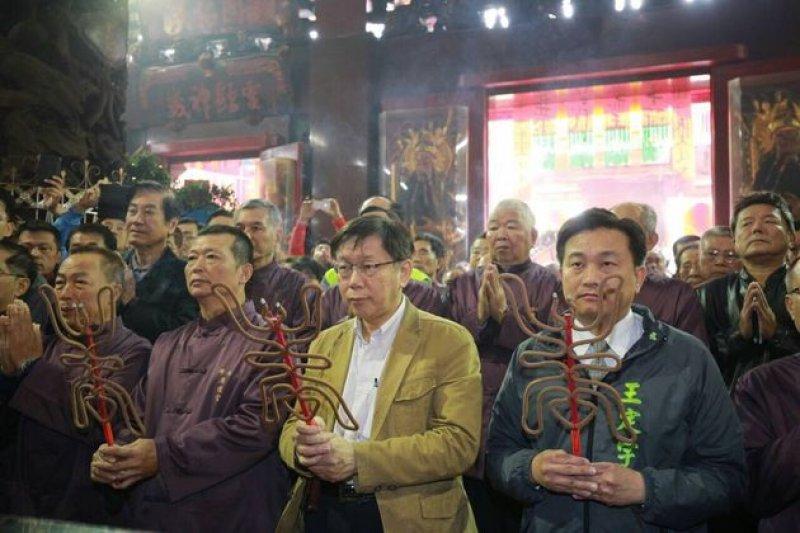台北市長柯文哲接受建中青年校刊訪問,痛批遠雄巨蛋是無法無天。(圖為柯文哲18日訪台南/北市府提供)