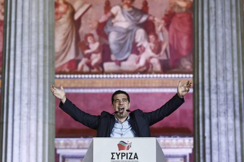率領激進左翼聯盟勝出的齊普拉斯,可望成為希臘150年來最年輕的總理。(美聯社)