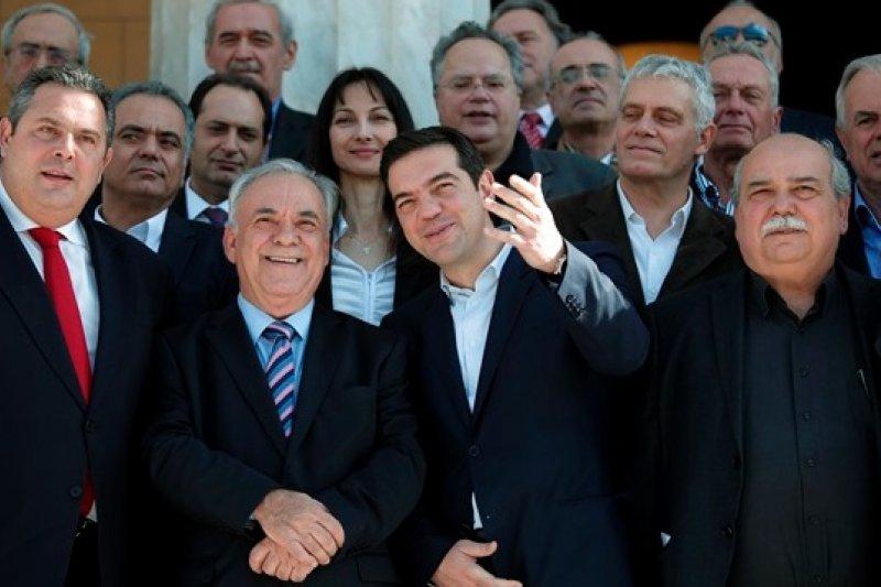 希臘變天,反撙節政黨上台要求債務減免,德法等國擔心引發道德風險而一口回絕。(美聯社)