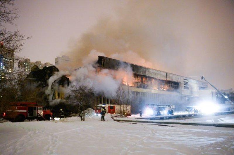 俄羅斯最大的斯拉夫典籍收藏中心上月30日發生大火,200萬冊遭焚毀。(美聯社)