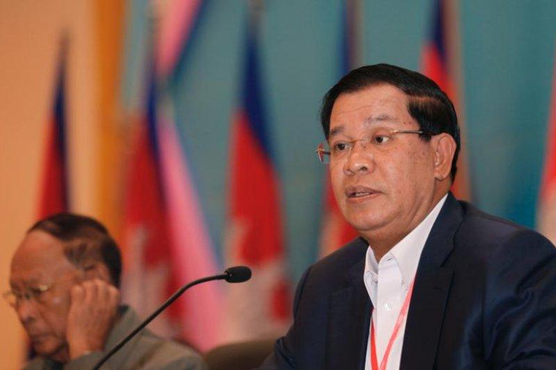 柬埔寨總理洪森。