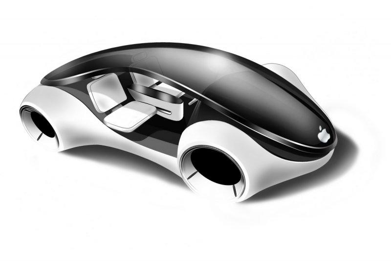 蘋果正研發電動車的傳聞不斷,外電報導最快2020年可問世。圖為果粉繪出心中理想的 i-Car。(取自網路)