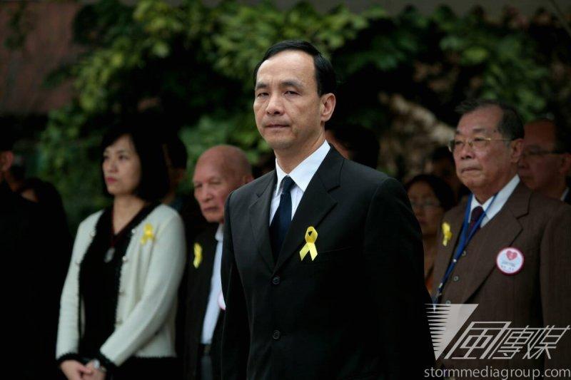 新北市長朱立倫出席228紀念會。(余志偉攝)