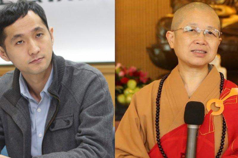醫師柳林瑋(左)與釋昭慧(右)的戰火越演越烈,雙方互批對方卑劣、醜化。(柳:吳逸驊攝/釋:取自釋昭慧FB)