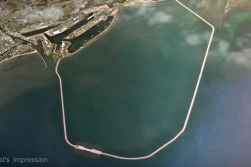 英國威爾斯史旺西潟湖發電廠想像圖(TLP)