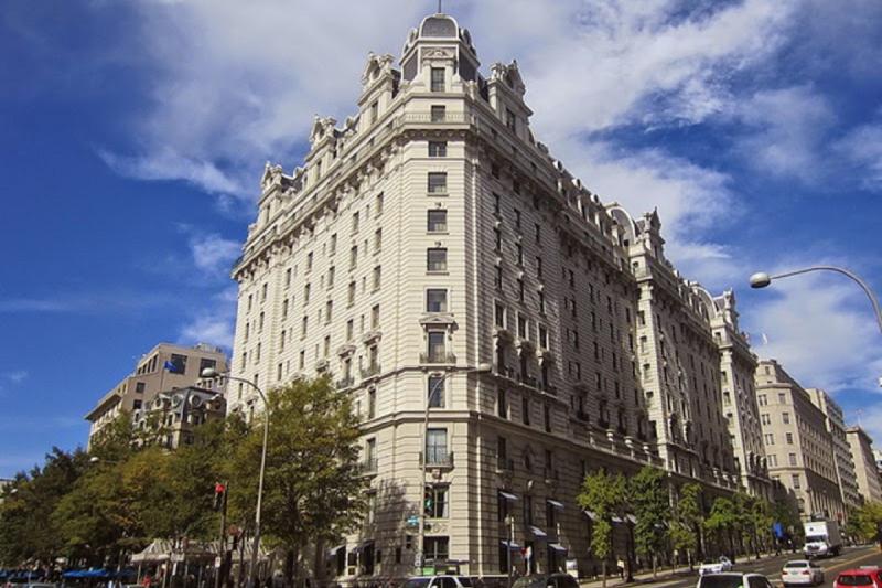 華府最值得觀光客朝聖的五星級飯店,威拉德─The Willard Hotel (洪德青攝)
