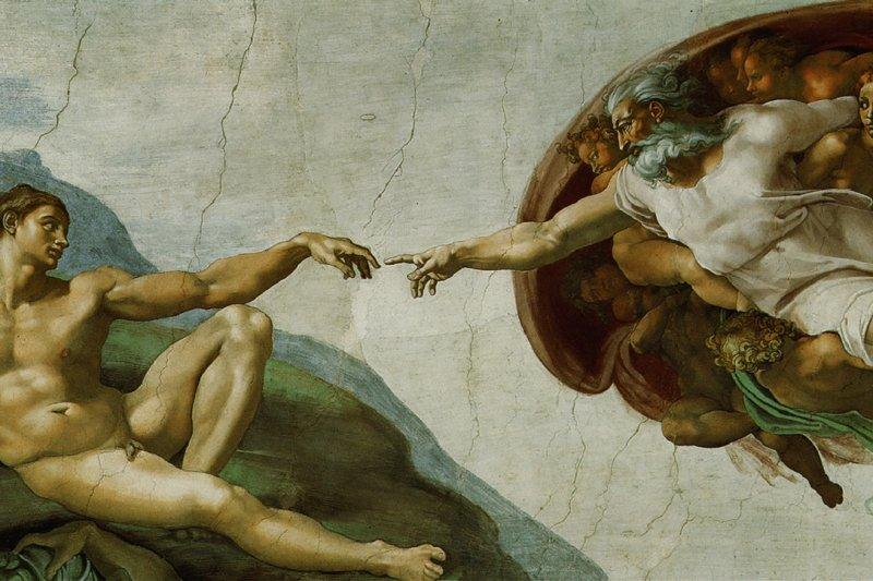 上帝創造人類,人類又將創造出什麼?從歷史上追索,其實,不同文明都有過超絕的輝煌時代。(圖為米開朗基羅最著名作品之一《創造亞當》。)