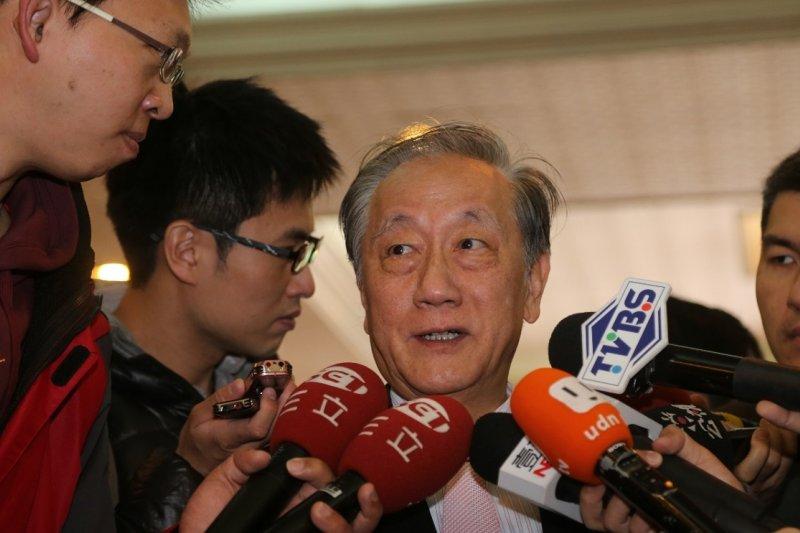 2016大選藍營低迷,新黨主席郁慕明8日在同盟會新春團拜表示,親民黨主席宋楚瑜是可考慮的人選。(吳逸驊攝)