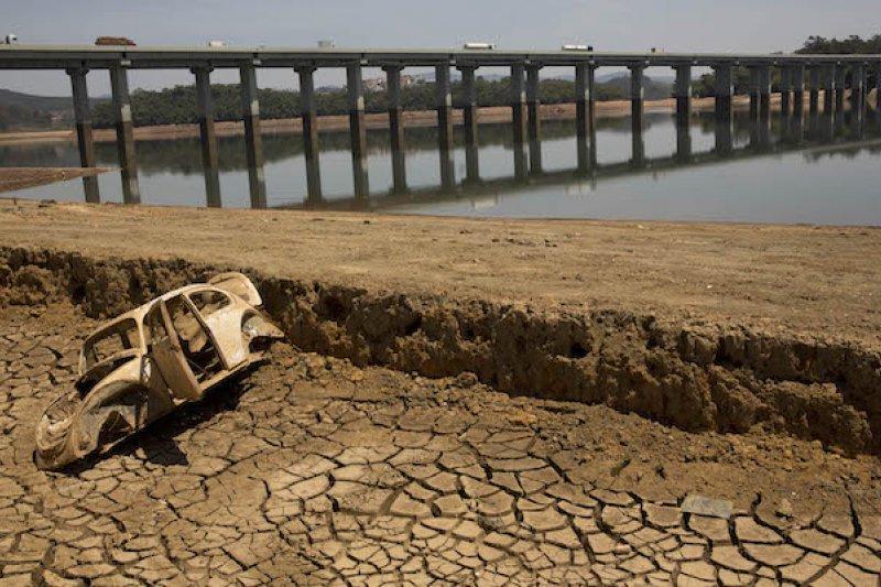巴西聖保羅面臨暖化威脅,近年乾旱嚴重。(美聯社)