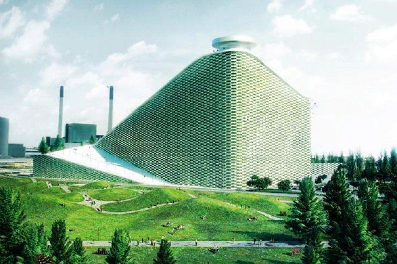 將垃圾焚化爐變成白雪覆蓋的滑雪場(圖/BIG-Bjarke Ingels Group)