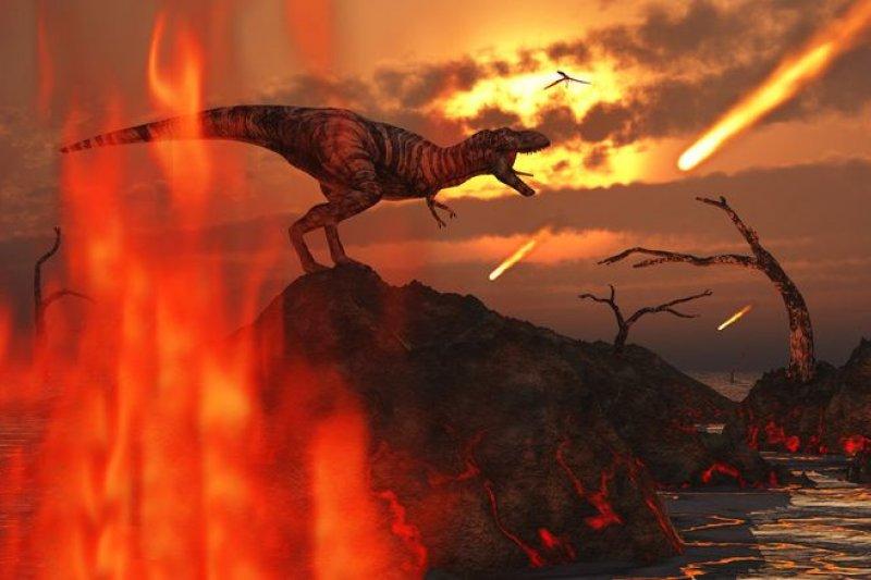 英國研究指出,恐龍滅絕的主因是核冬天效應。(取自推特)