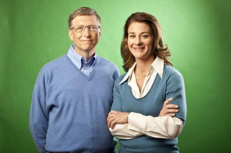微軟創辦人比爾蓋茲夫婦。(美聯社)