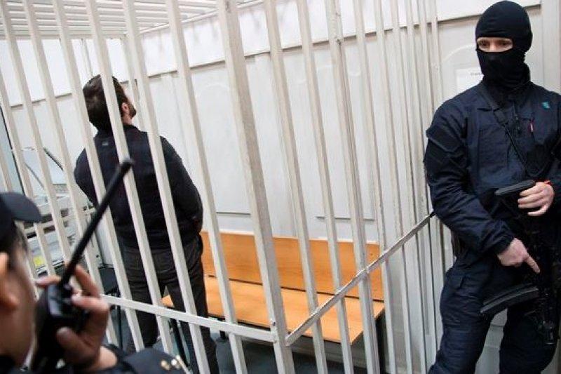涅姆佐夫兇案被告達達耶夫於法院(美聯社)