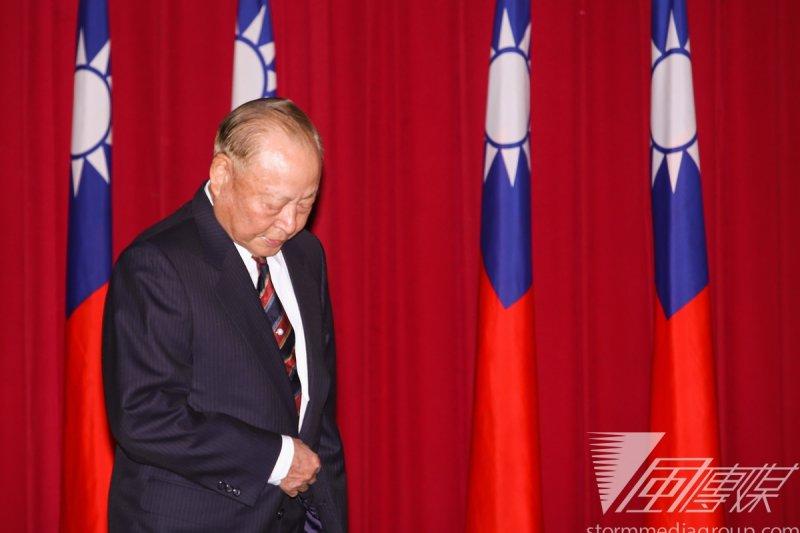 馬英九出席中華戰略協會會慶,圖為退役將領王文燮。(林韶安攝)