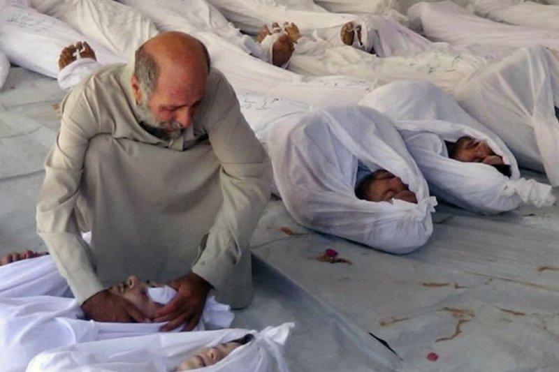 敘利亞內戰4年,死亡超過21萬人,其中約6萬5000人是平民。(美聯社)