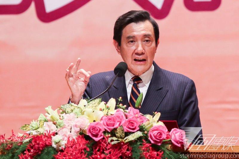 總統馬英九18日接見哈佛大學亞洲法律協會代表團。(林韶安攝)