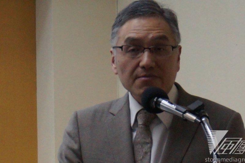 中研院士朱雲漢18日發表演說。(王彥喬攝)