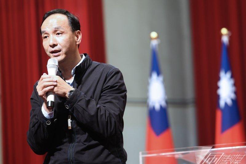 新台灣國策智庫18日發布民調,國民黨的政黨滿意度略為回升。身兼國民黨主席的新北市長朱立倫19日表示,最重要的是把施政工作做好。(吳逸驊攝)