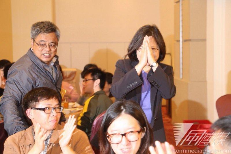 民進黨黨主席蔡英文20日出席「台灣之友會」募款餐會。(楊子磊攝)